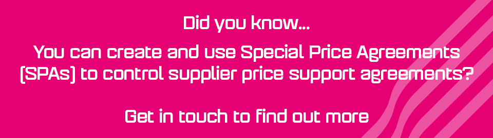 Did you know you can use SPAs to control supplier price support agreements?